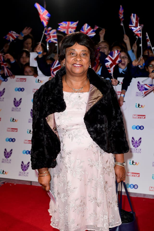 Baroness Doreen Lawrence attending The Pride of Britain Awards 2016
