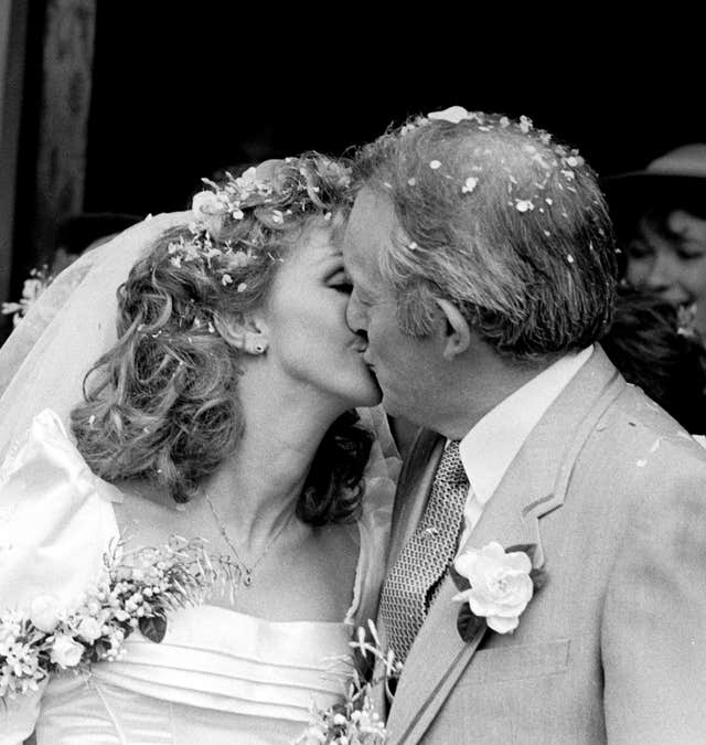 Paul Daniels and Debbie McGee – Wedding Day – Beaconsfield Old Town Registration Office, Buckinghamshire
