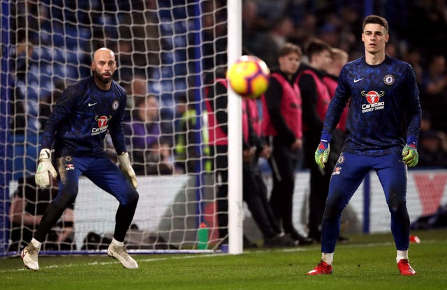 Willy Caballero and Kepa Arrizabalaga