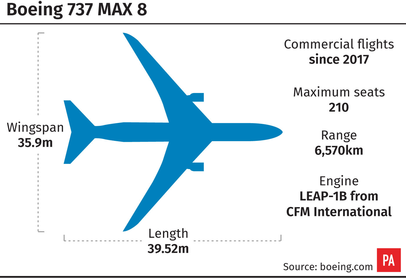 Boeing 737 MAX 8 graphic