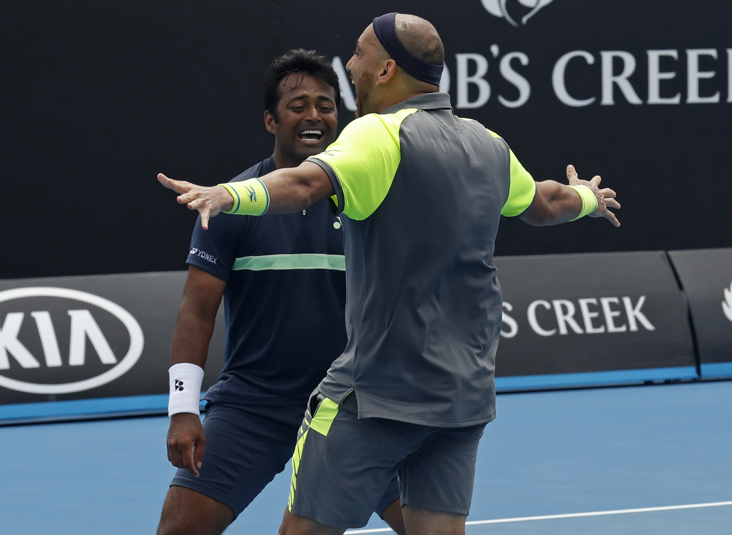 Leander Paes-Purav Raja Advance to Pre-Quarters at 2018 Australian Open