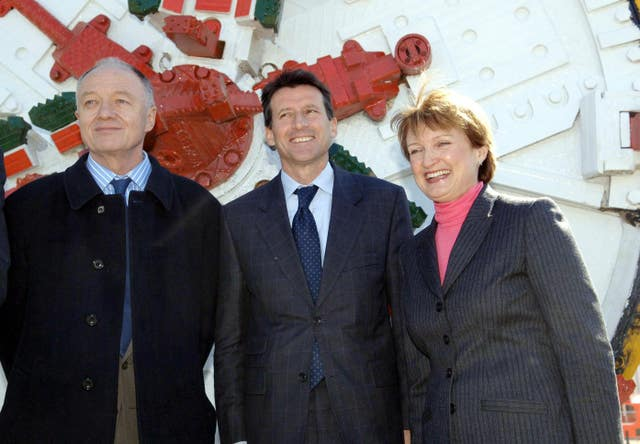 Ken Livingstone. Lord Coe and Tessa Jowell worked together on bringing the Olympics to London (Stefan Rousseau/PA)