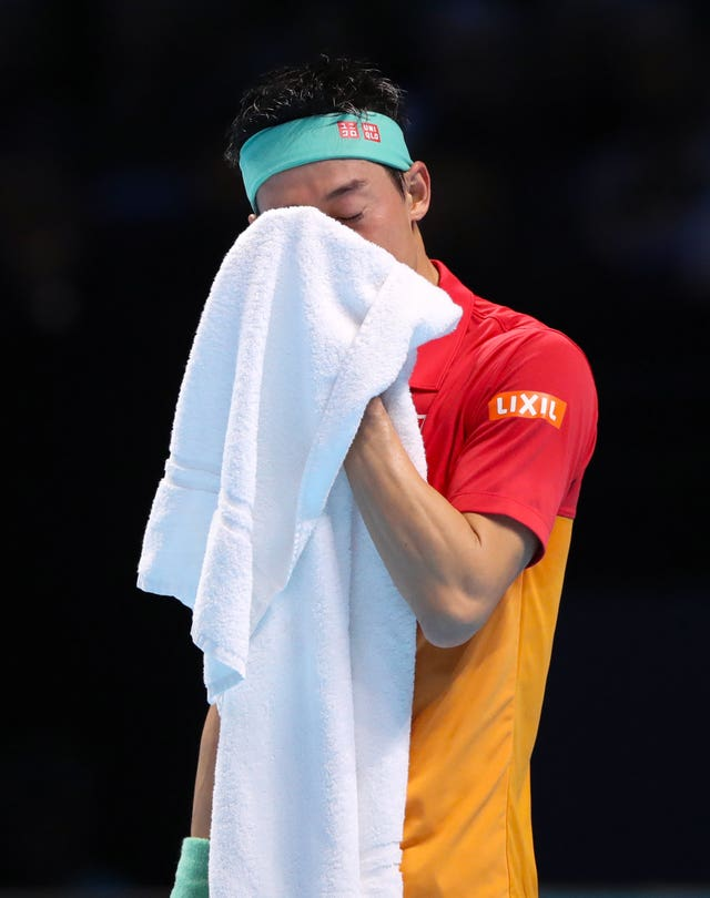 Japan's Kei Nishikori ran out  of steam