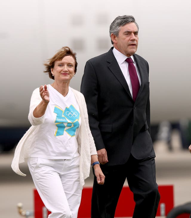 Prime Minister Gordon Brown and Minister for the Olympics and London Tessa Jowell (left) at Heathrow Airport for the arrival of the Great Britain team from the Olympic Games in Beijing, China (David Davies/PA)