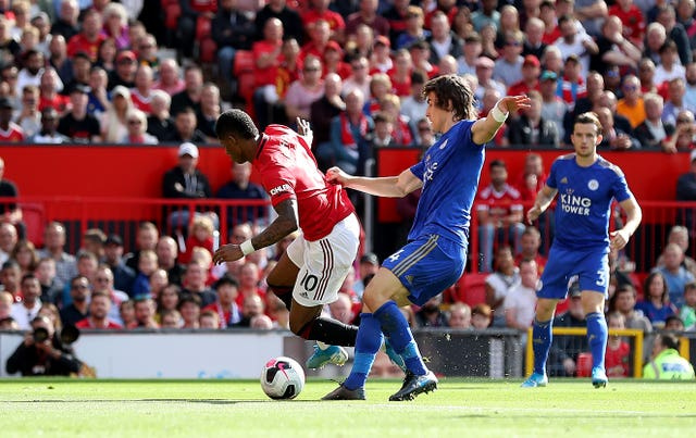 Marcus Rashford's penalty proved decisive for Manchester United against Leicester