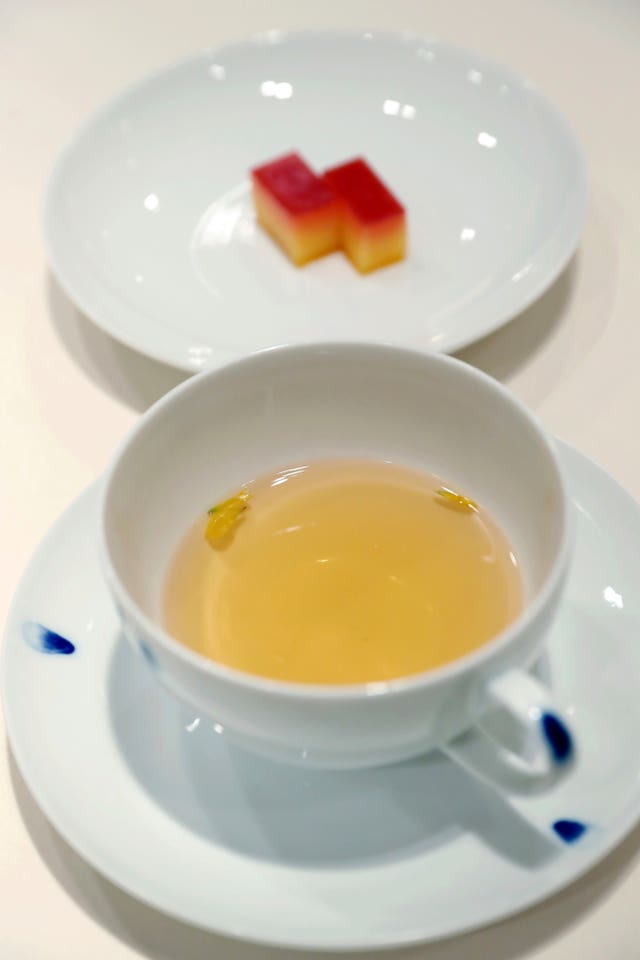 Tea and desserts made from citrus from South Korea's Jeju Island are planned for the banquet (AP)