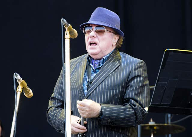 Van Morrison on stage