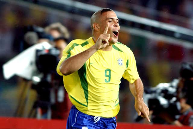 Ronaldo scored both goals as Brazil beat Germany to win the 2002 World Cup