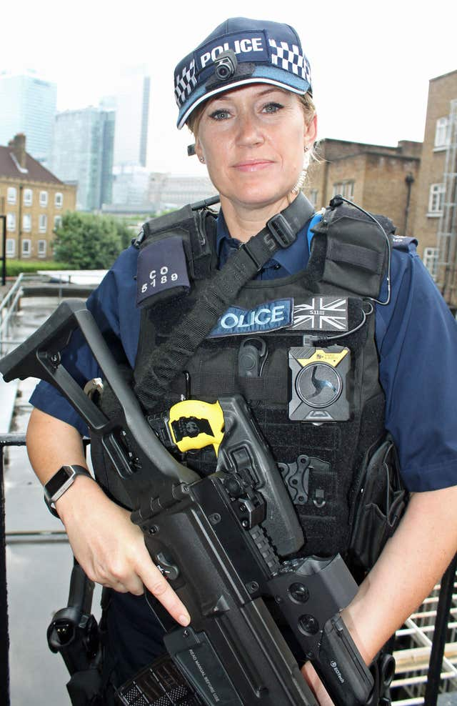 Head cameras on armed police