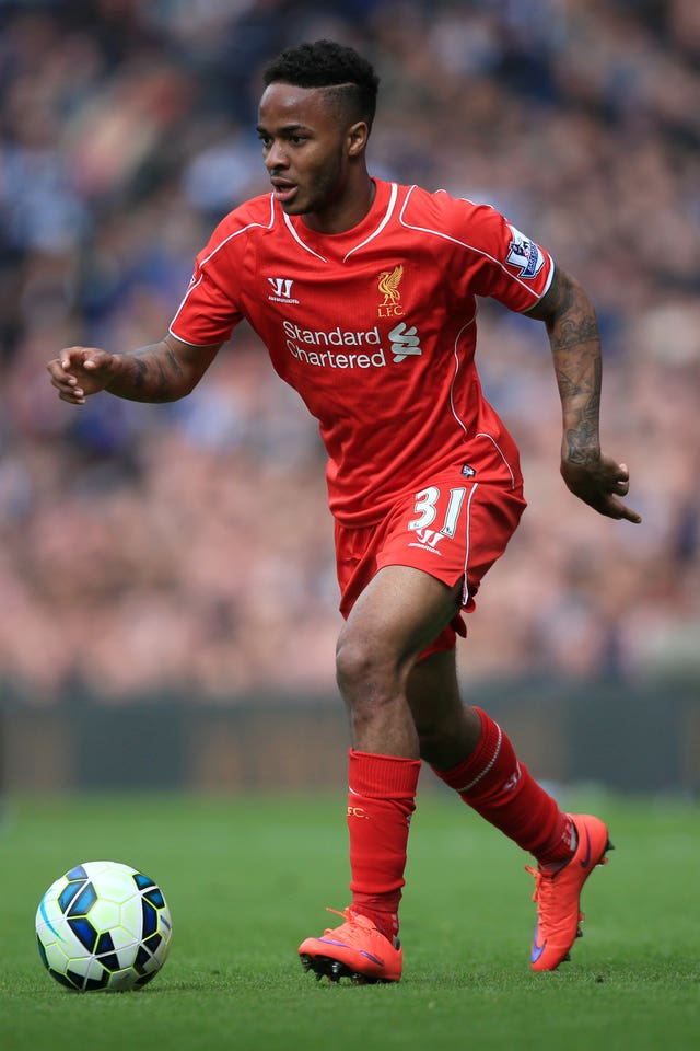 Manchester City's Raheem Sterling began his professional career at Liverpool
