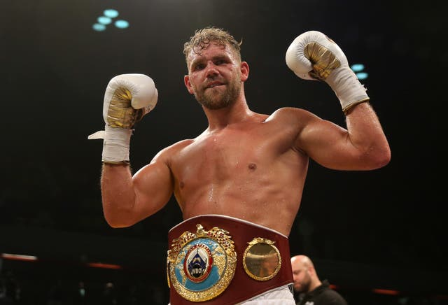 Billy Joe Saunders is due to defend his WBO middleweight title next month (Scott Heavey/PA)