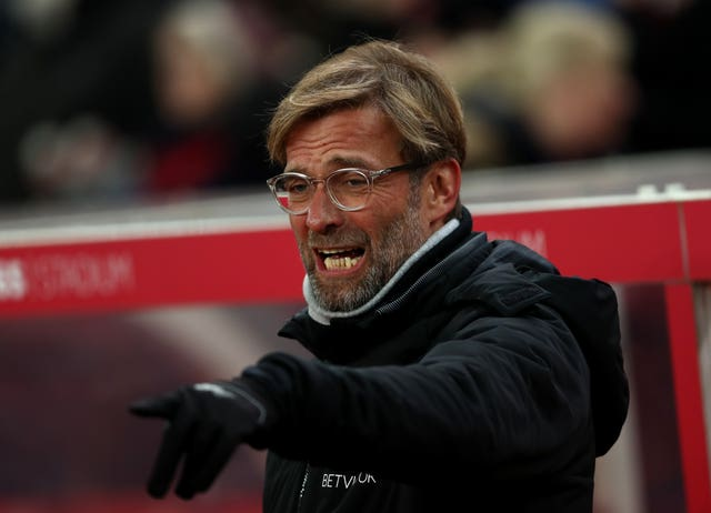Liverpool manager Jurgen Klopp on the touchline at Stoke