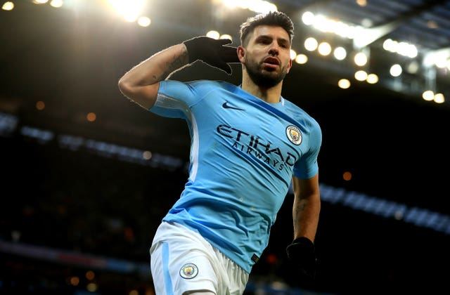 Sergio Aguero is in fine goalscoring form for Manchester City