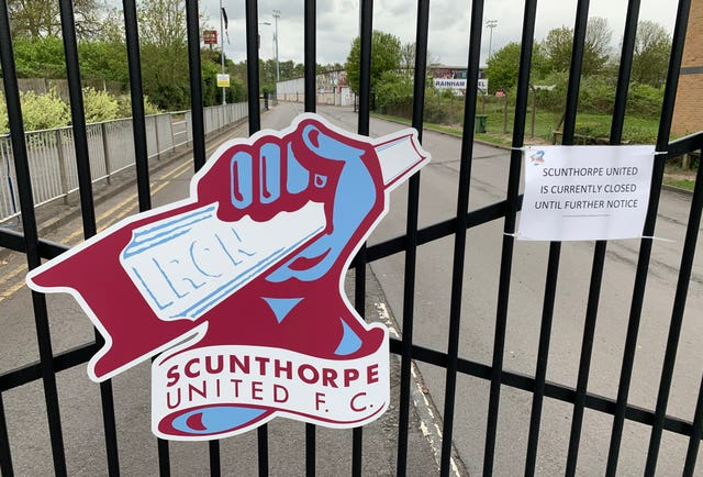 The gates at Scunthorpe's ground will be locked for the foreseeable future