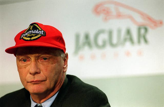 Lauda at a press conference in central London in 2001, for the announcement that the former Formula 1 world champion is joining the Jaguar as chief executive officer of the Premier Performance Division
