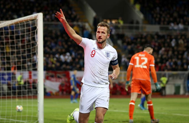 Harry Kane was among the scorers in a 4-0 win in Kosovo