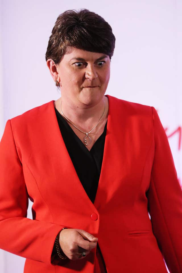 DUP leader Arlene Foster said progress had been made (PA Wire / Brian Lawless)