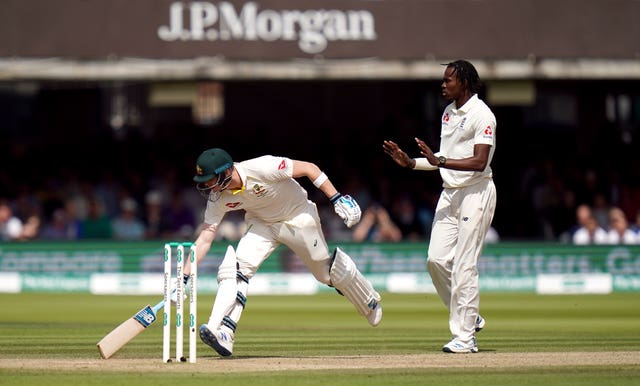 Jofra Archer, right, had a titanic battle with Australia's Steve Smith in 2019