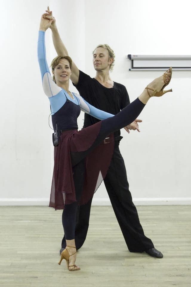 Darcey Bussell and Ian Waite jive training