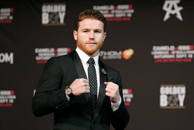 Canelo Alvarez at a pre-fight press conference in Las Vegas this week