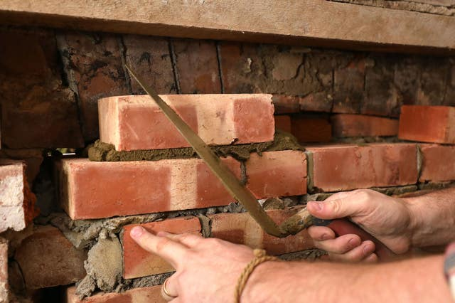 Richard Burr bricklaying