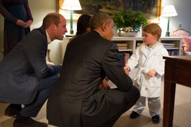 Prince George and the Obamas