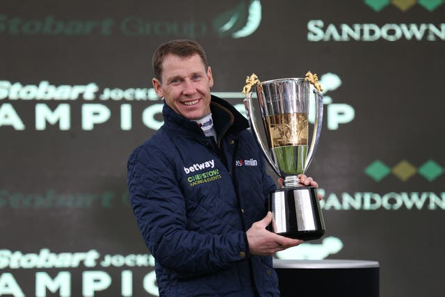 Richard Johnson has been crowned champion jockey in each of the last three seasons