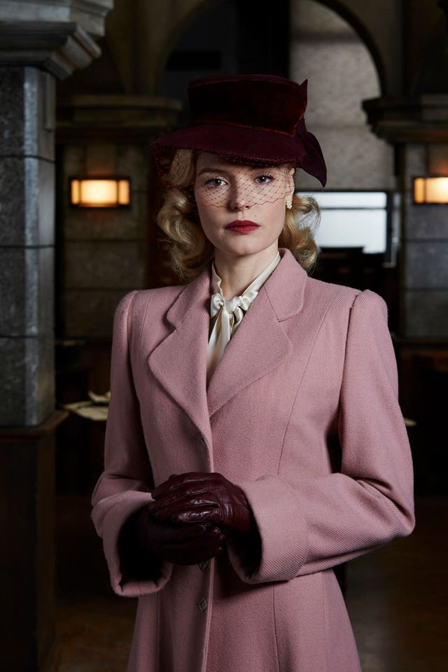 Kate Bosworth as Barbara Barga in the BBC1 drama SS-GB (Laurie Sparham/BBC/PA)