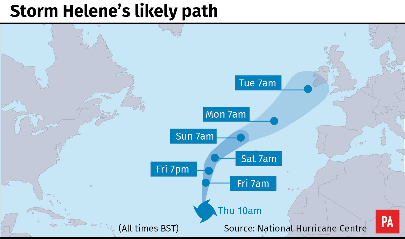 Storm Helene set for earlier arrival to Wales, Met Office says