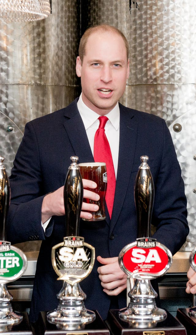 The Duke of Cambridge with pint
