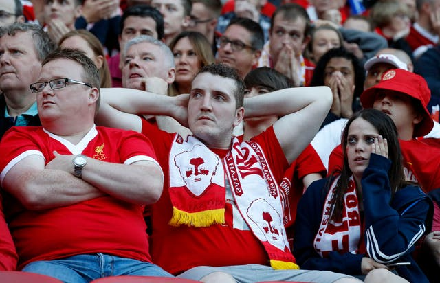 It was a disappointing day for Liverpool fans in Kiev