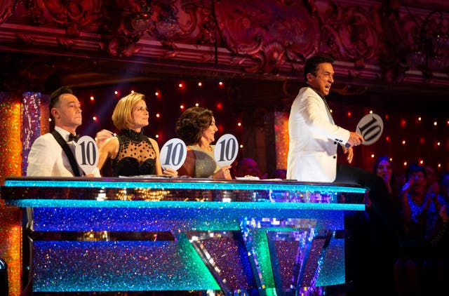 Strictly Come Dancing judges (left to right) Craig Revel Horwood, Dame Darcey Bussell, Shirley Ballas and Bruno Tonioli, after awarding four 10s to Ashley Roberts and Pasha Kovalev. (Image: PA)