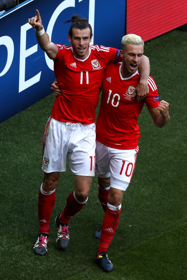 Gareth Bale (left) and Aaron Ramsey (right) are back together for Wales.