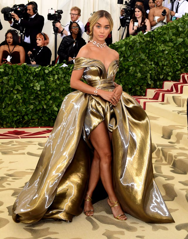 And more gold, this time Jasmine Sanders sports a striking outfit (Ian West/PA)