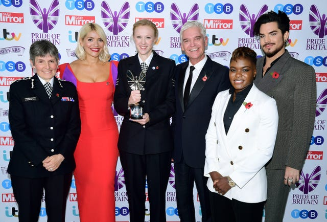 Adams, right, at the Pride of Britain awards last month