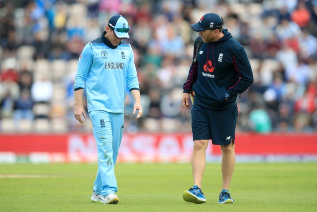 Eoin Morgan struggled with a back problem