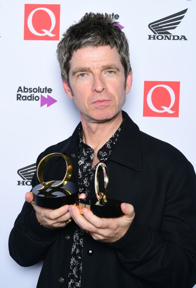 Noel Gallagher at the Q Awards
