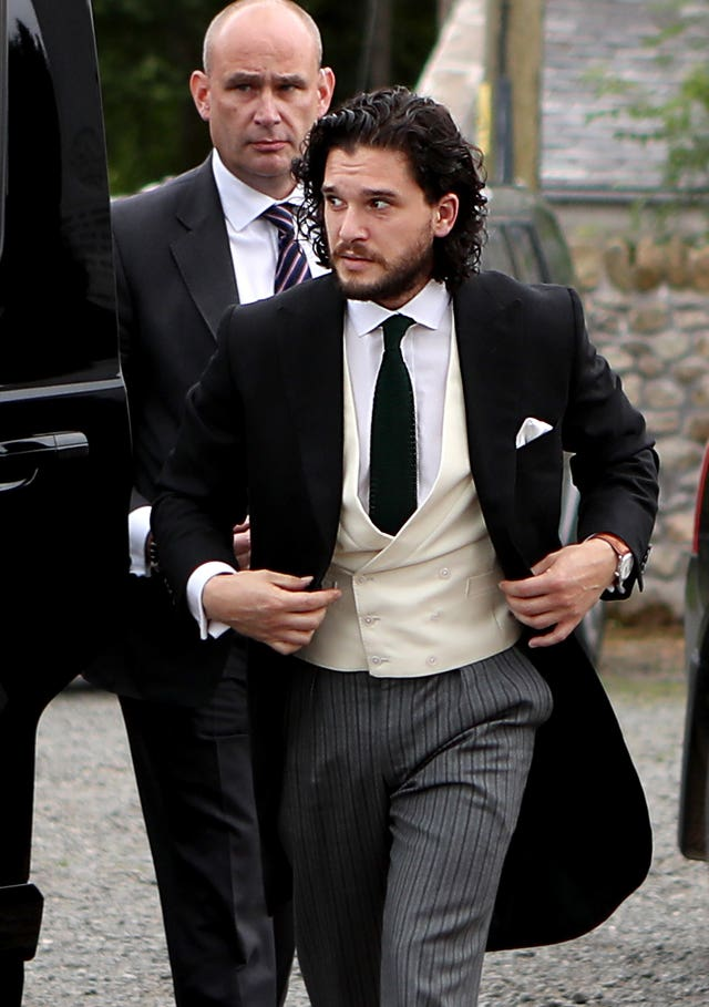 Kit Harington arrives at church
