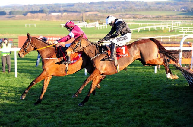 It has been a struggle over hurdles for Relegate (right) this season