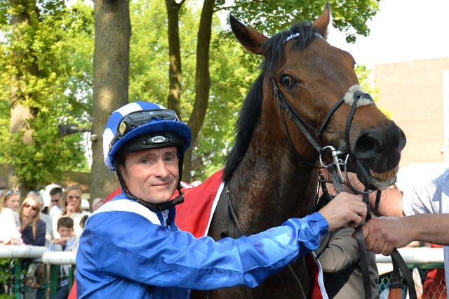 Dane O'Neil with Battaash after a winning reappearance at Haydock in May