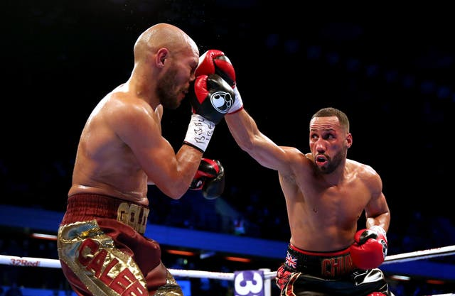James Degale (right) lost his IBF title to Caleb Truax