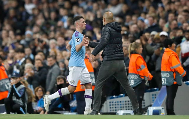 Phil Foden was sent off late on
