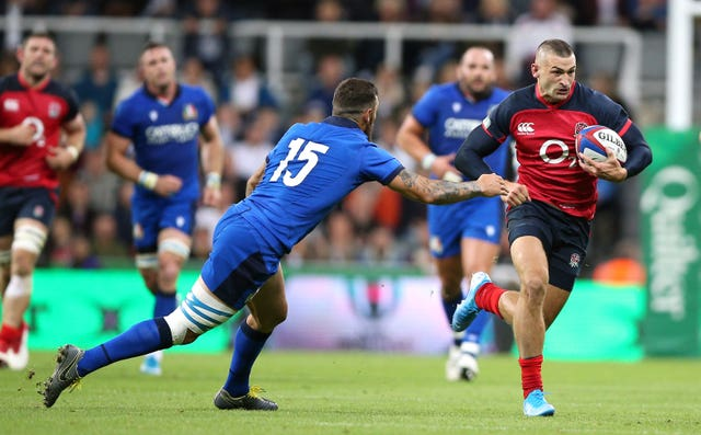 Jonny May caused Italy plenty of problems with an impressive display
