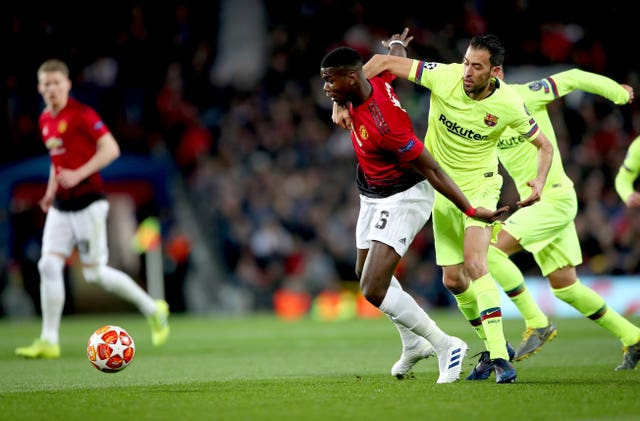 Pogba and United made life tough for Barcelona in the first leg at Old Trafford