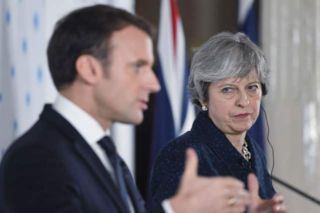 Emmanuel Macron has warned the UK about the conditions for single market access after Brexit (Stefan Rousseau/PA)