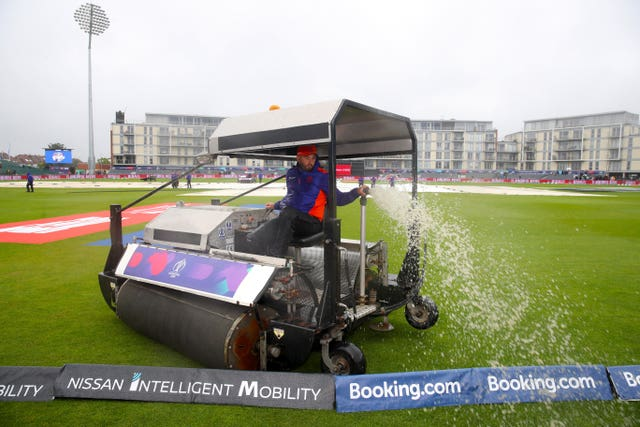 Rain has had some say on the World Cup (Nick Potts/PA)