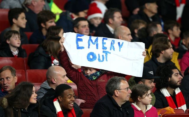 Signs of discontent from the Arsenal supporters have started to appear in recent times.