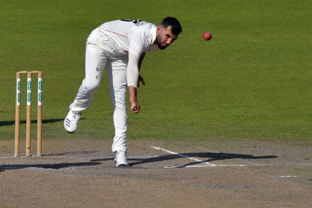 Saqib Mahmood adds to the competition for places in England's Twenty20 squad (Anthony Devlin/PA)