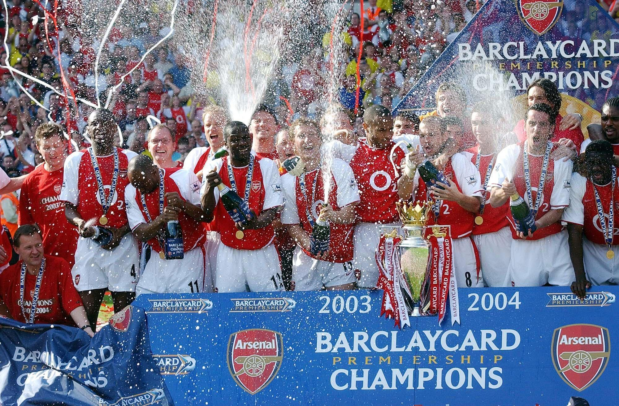 The Gunners of 2003-04 are the only side to go through a Premier League season unbeaten