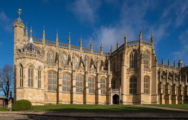 St George's Chapel at Windsor Castle, Berkshire, where Prince Harry and Meghan Markle will have their wedding service (Dominic Lipinski/PA)